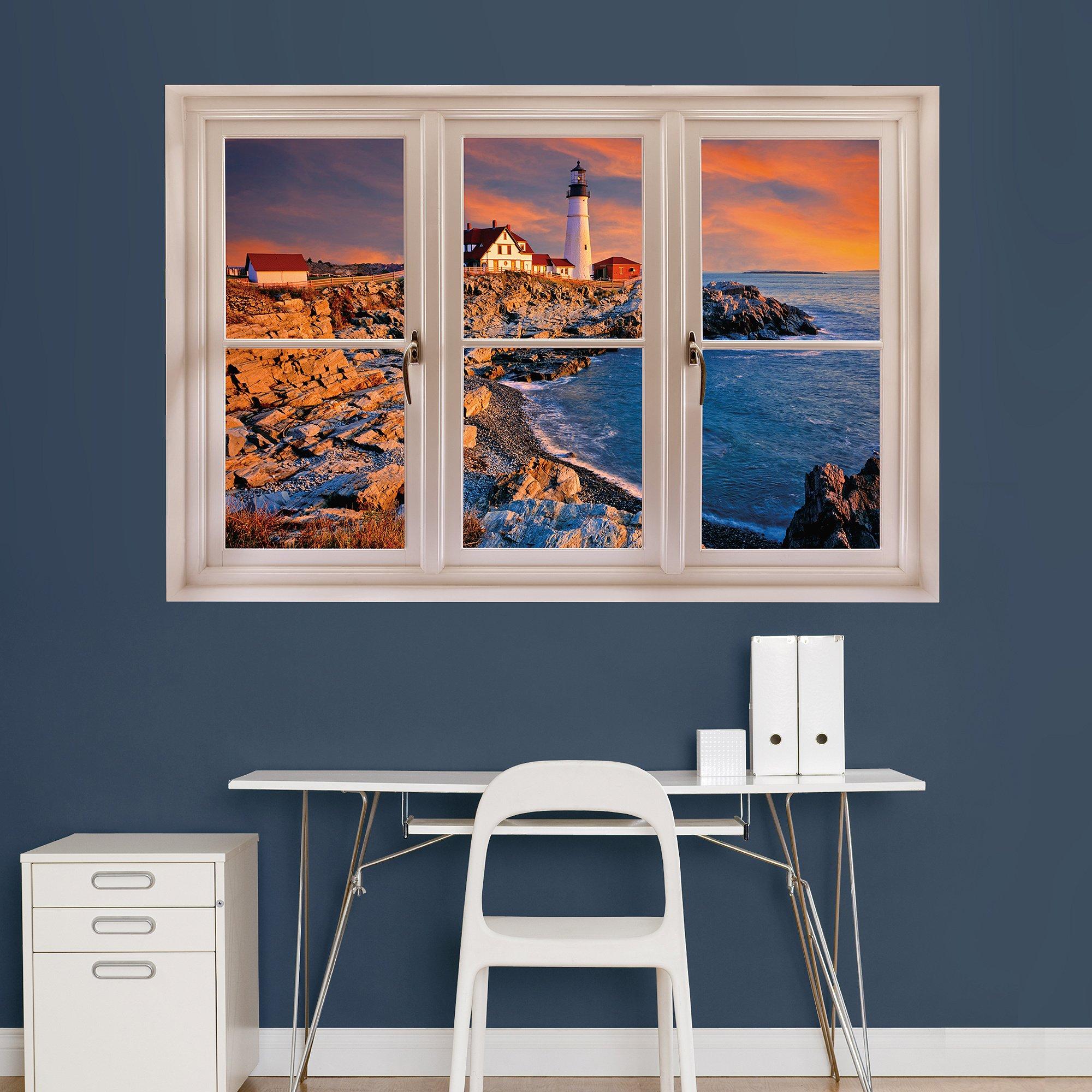 Fathead Wall Decal, ''Portland, Maine Lighthouse Instant Window''