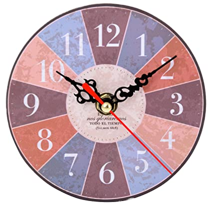 Buy Indian onliners Wood Wall Clock 12 5 x 3 5 x 12 5 cm Online at