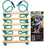 Slackers 8 ft Rope Ladder - Best Outdoor Ninja Warrior Training Equipment For Kids - A Great Addition To Your Backyard Ninjal