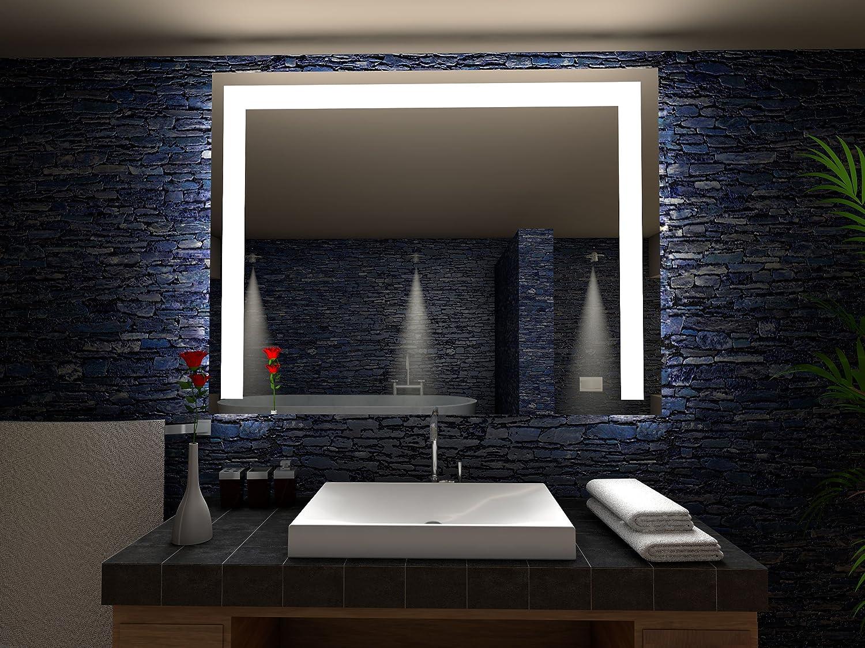 Etienne Badspiegel mit LED Beleuchtung - B  60 cm x H  50 cm