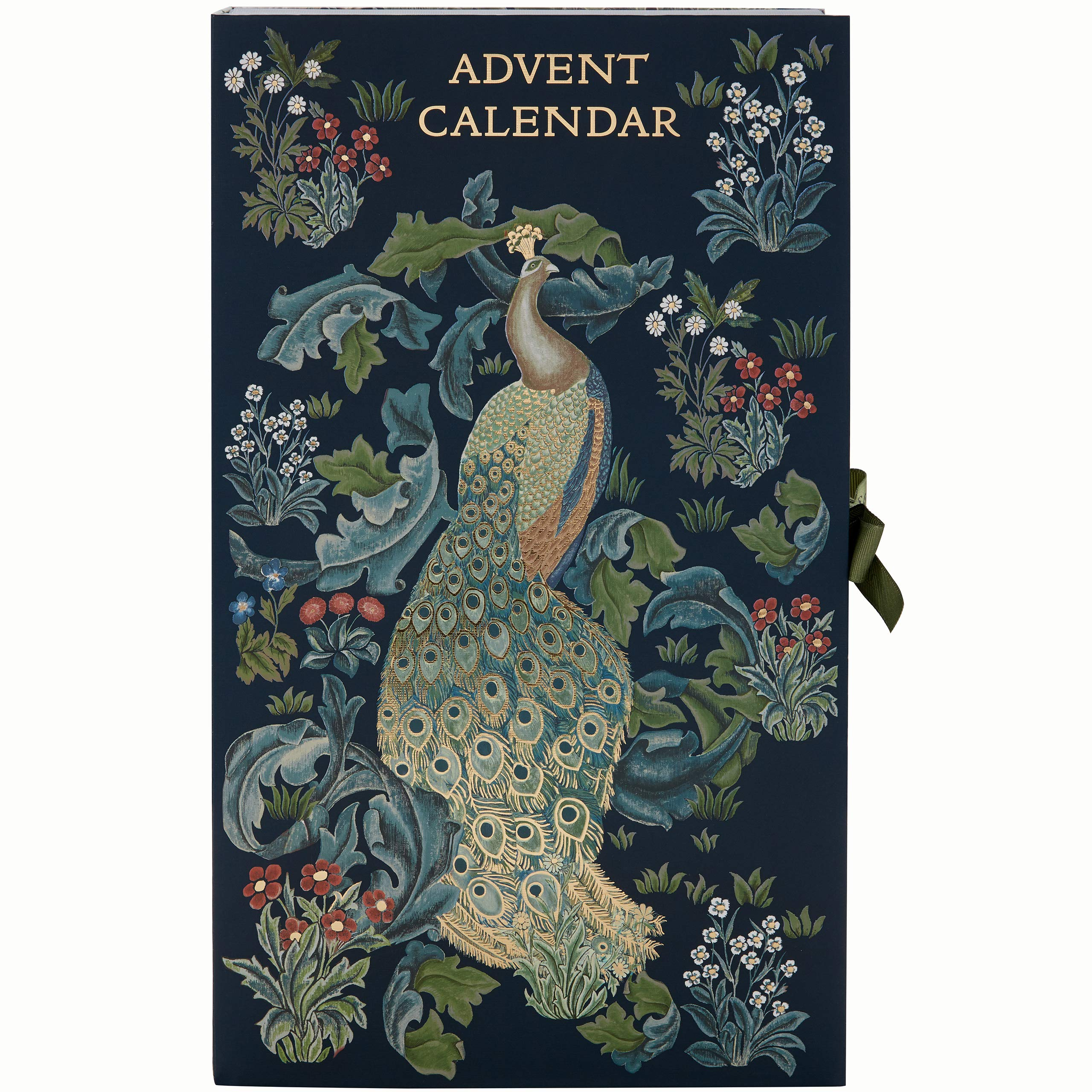 Morris & Co. 2019 Advent Calendar Blue Forest Peacock Print With 24 x Bath & Body Items Assorted Beauty Christmas Presents by Morris & Co. Beauty