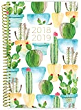"bloom daily planners 2018-2019 Academic Year Day Planner - Monthly and Weekly Datebook/Calendar Book - Inspirational Dated Agenda Organizer - (August 2018 - July 2019) - 6"" x 8.25"" - White Cacti"