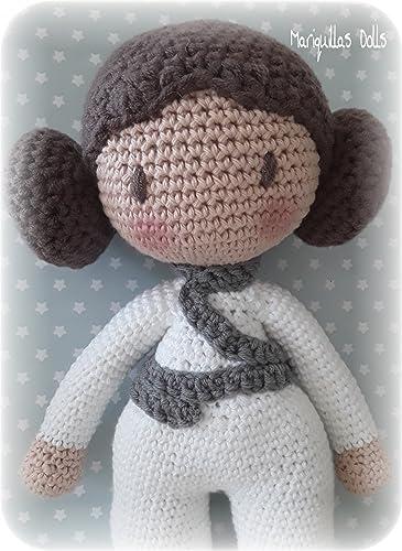Princesa Leia de crochet de Mariquillas Dolls.: Amazon.es ...