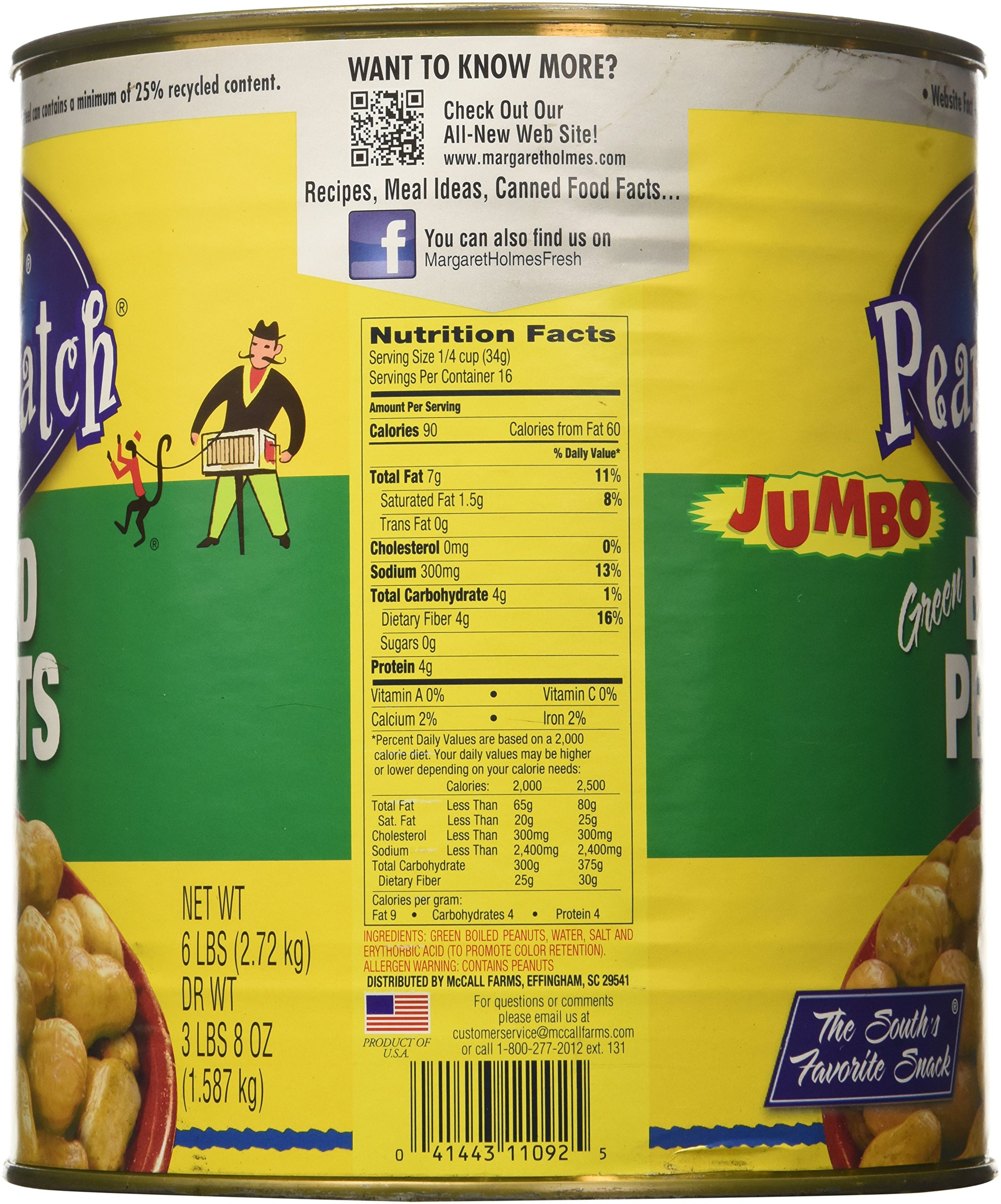 Margaret Holmes Green Boiled Peanuts - 6lb - CASE PACK OF 2 by USA (Image #4)