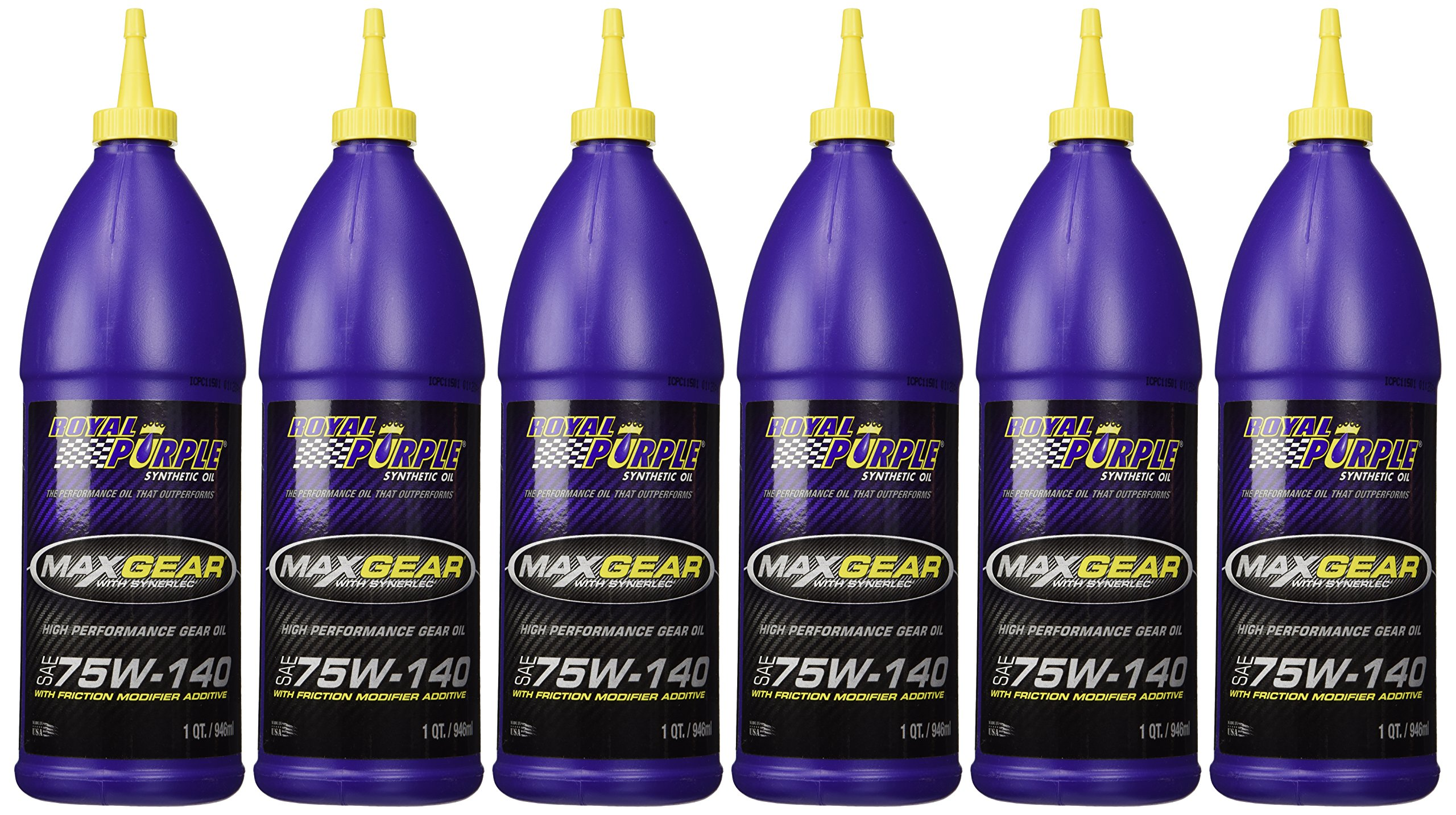 Royal Purple 01301 Max-Gear Synthetic Gear Lube Oil 75W140 Pack of 6 Quarts