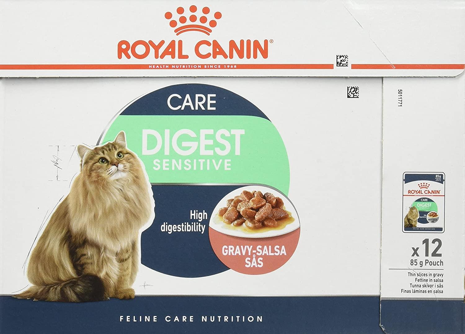 Royal Canin C-58397 Diet Feline Digest Sensitive - 85 gr, pack de 12