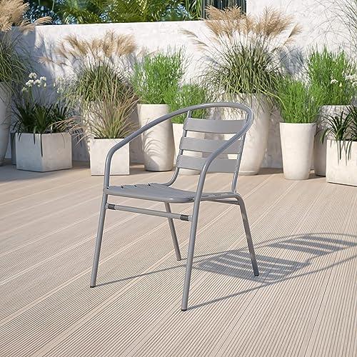 Flash Furniture Silver Metal Restaurant Stack Chair