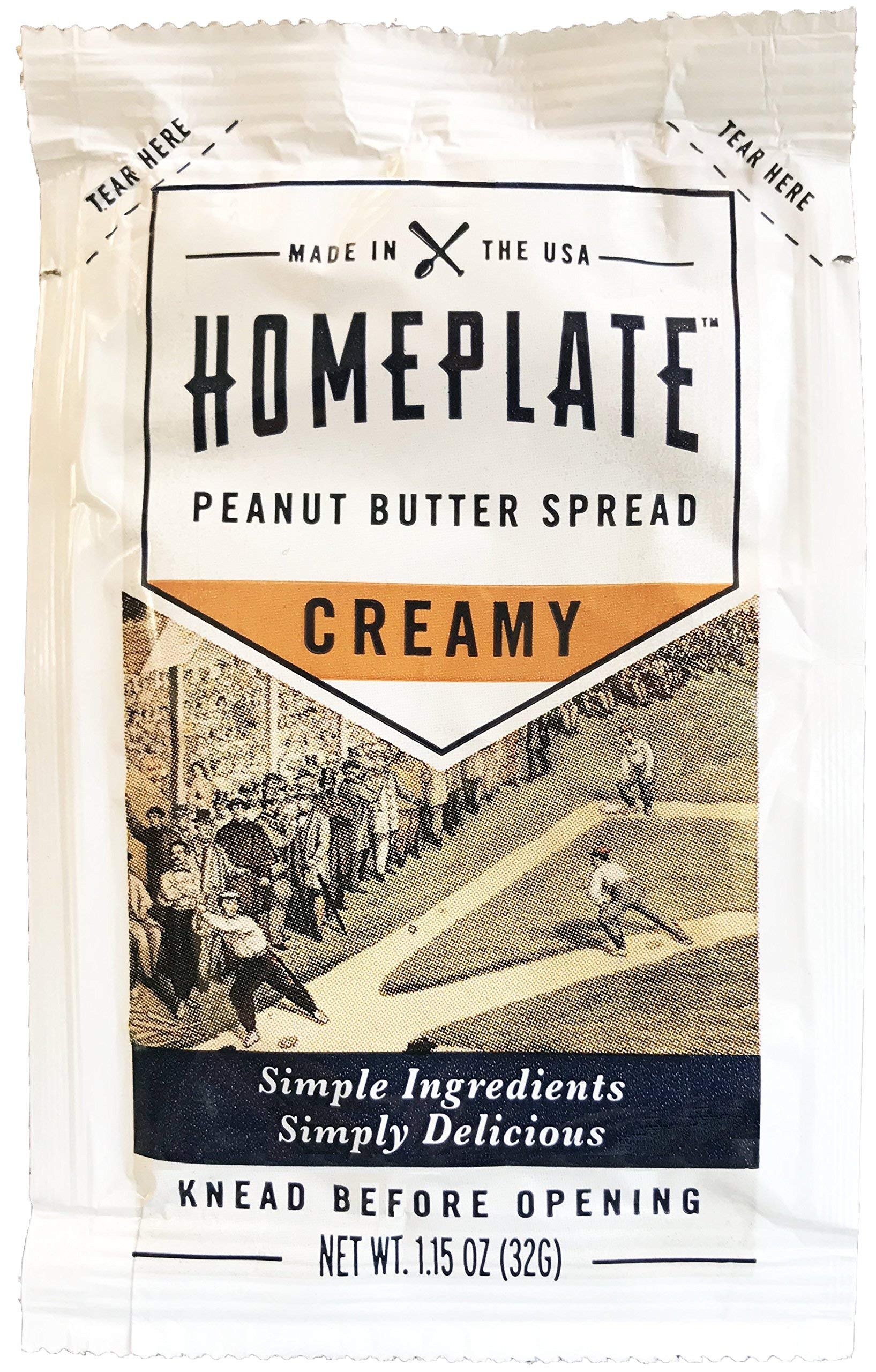 HomePlate Peanut Butter On-the-Go Squeeze Pack, Creamy, All Natural, No Stir, Non-GMO, 1.15 oz. squeeze pack, 1 Unit