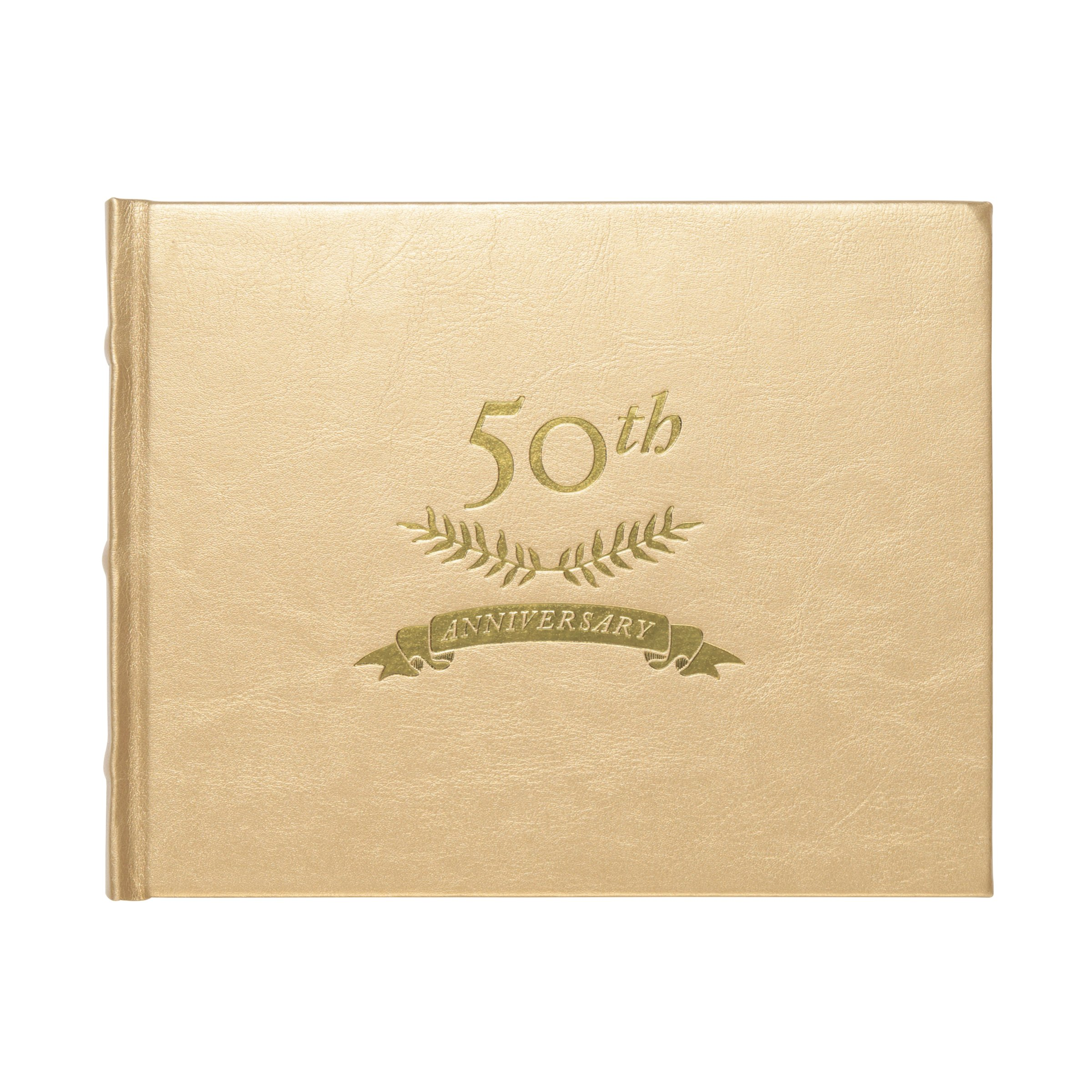 C.R. Gibson WG7-18798 - 50TH Anniversary Golden Guest Book by C.R. Gibson