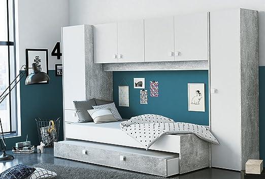 Miroytengo Pack Dormitorio Juvenil Estilo Industrial Compuesto por ...