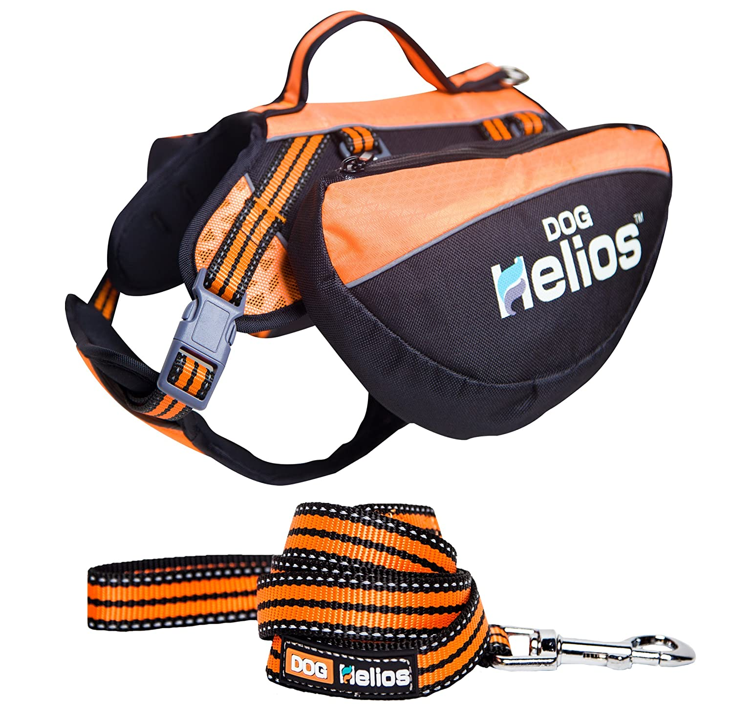 DogHelios Freestyle 3-in-1 Explorer Convertible Backpack Harness and Leash Small Orange Pet Life