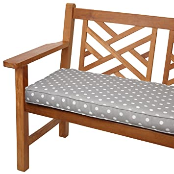 Attractive Mozaic Sabrina Corded Indoor/Outdoor Bench Cushion, 60 Inch, Grey Dots
