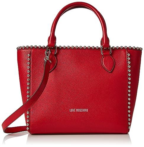Borsa Veau Pu Rosso, Femmes Sac À Bandoulière, Rouge, 12x26x38 Cm (bxht) Moschino D'amour
