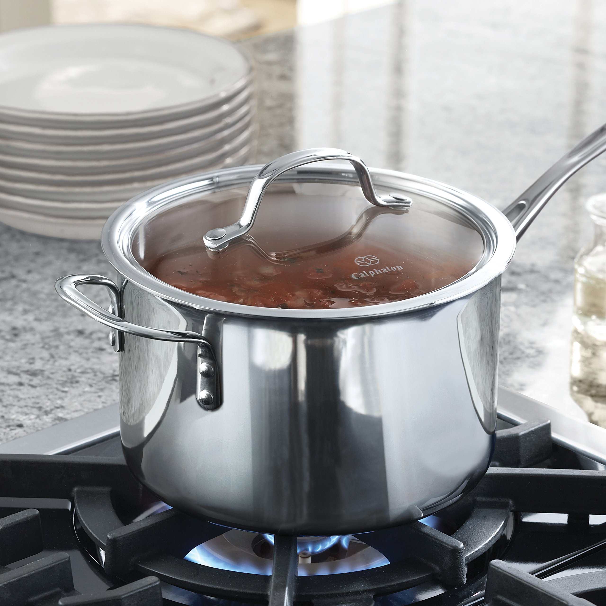 Calphalon Tri-Ply Stainless Steel 4-1/2-Quart Sauce Pan with Cover by Calphalon (Image #5)