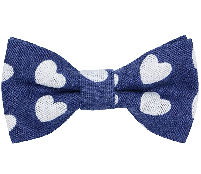 2a138b278161 OCIA Boys Bow Tie Love Pattern Bowtie for Kids Toddler Bow Ties LOVE/BLUE