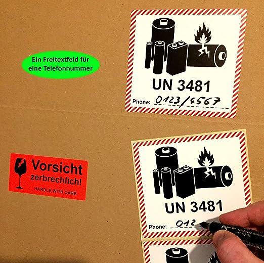 Adesivo segnaletico infrangibile zerbrechlich BT-Label 250