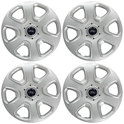 Ford 1748782 Wheel Trims Covers/ Hub Caps, 14-inch - silver/Black: Amazon.co.uk: Car & Motorbike