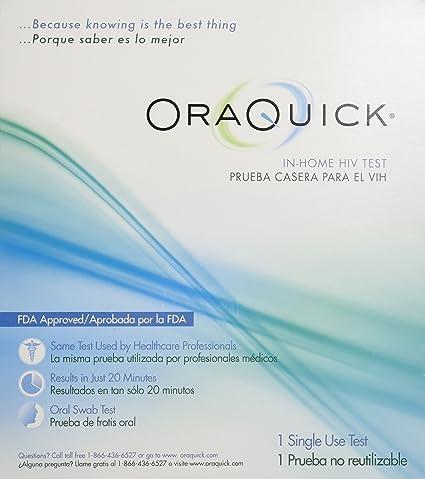 Amazon.com: Oaquick, prueba de VIH en casa, 608337103403, 1 ...