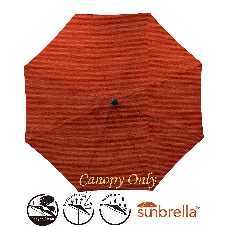 Secret Garden Home Goods 9ft 8 Ribs Market Umbrella Replacement Canopy Sunbrella- Terracotta