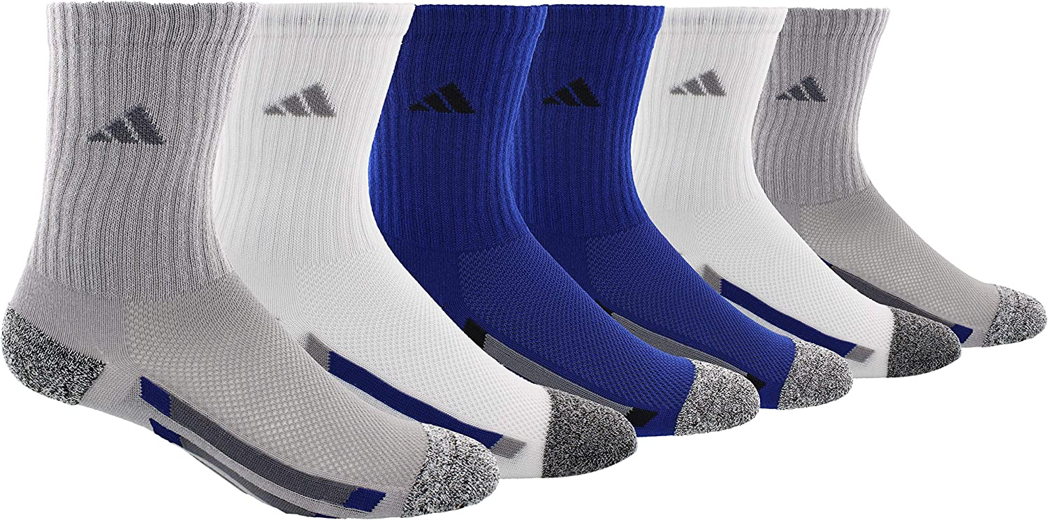 adidas Youth Kids-Boy's/Girl's Cushioned Crew Socks (6-Pair): Sports & Outdoors