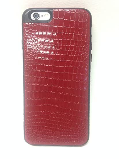 pretty nice 78017 594cd YogaCase SnakeSkin, Compatible with iPhone 6/6S Phone Cover Case (Dark Red)