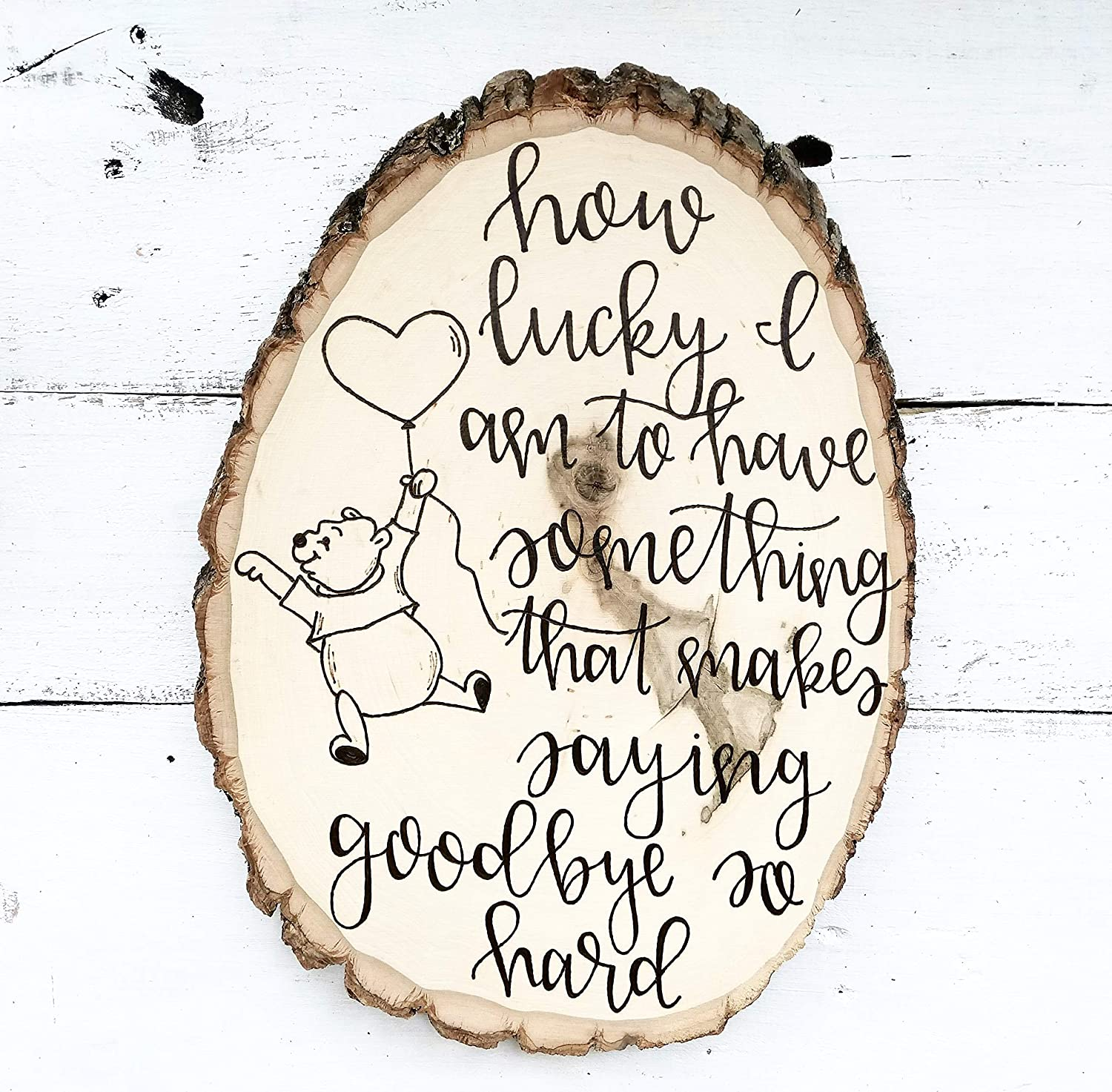 Amazoncom Winnie The Pooh Quote How Lucky I Am To Have Something