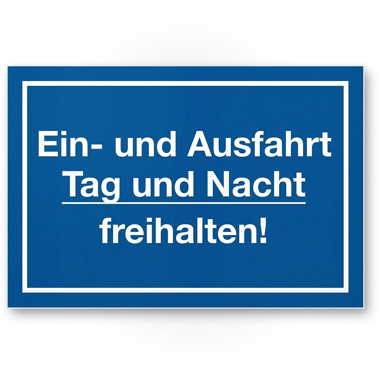 Un de día y de noche de salida y freihalten Cartel (Azul, 30 ...