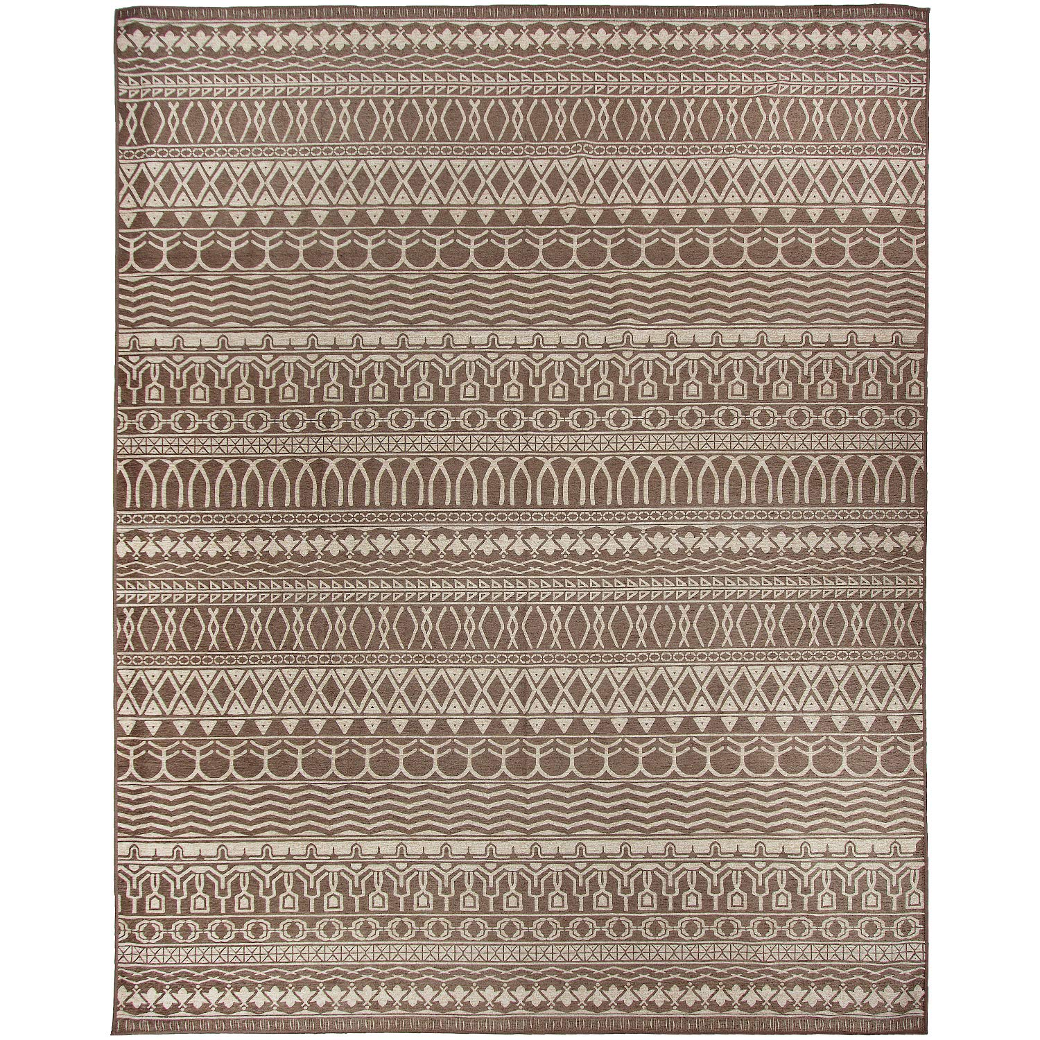 RUGGABLE Washable Stain Resistant Indoor/Outdoor, Kids, Pets, and Dog Friendly Area Rug, 8'x10', Cadiz Espresso