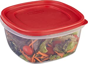 Rubbermaid Easy Find Lids Food Storage Container, 14 Cup, Racer Red 1777161