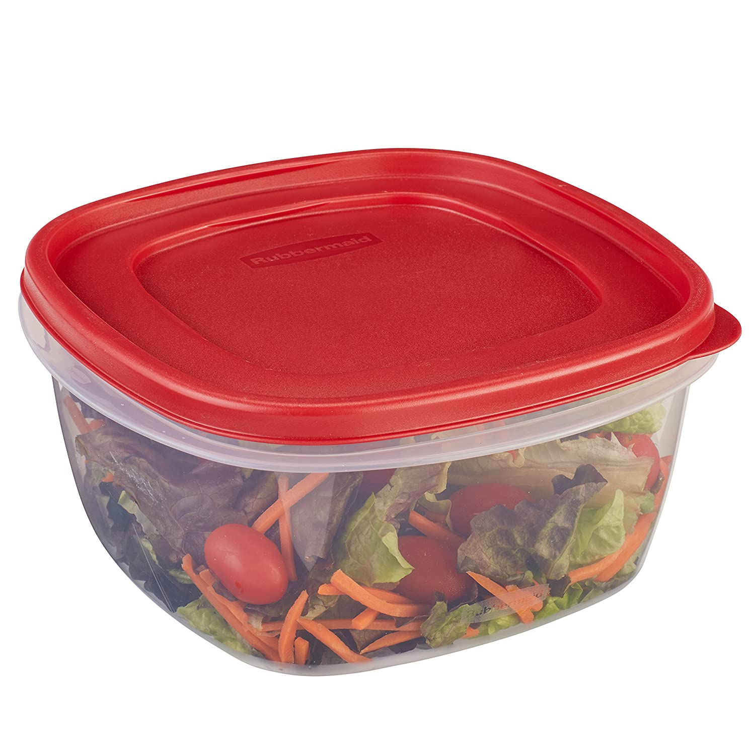 Rubbermaid 7J72 Easy Find Lid Square 14-Cup Food Storage Container Rubbermaid Consumer 1777161