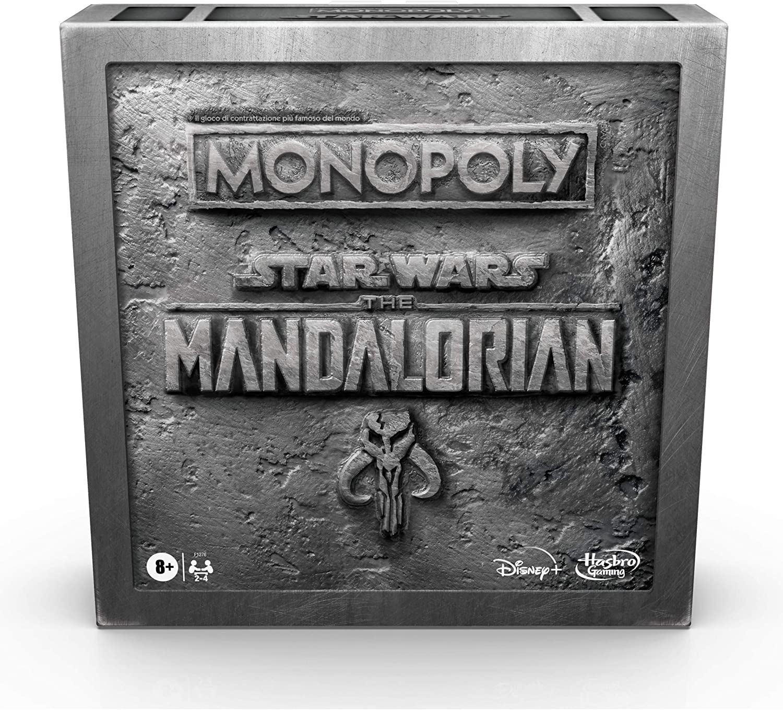 Portada del juego de mesa monopoly the mandalorian