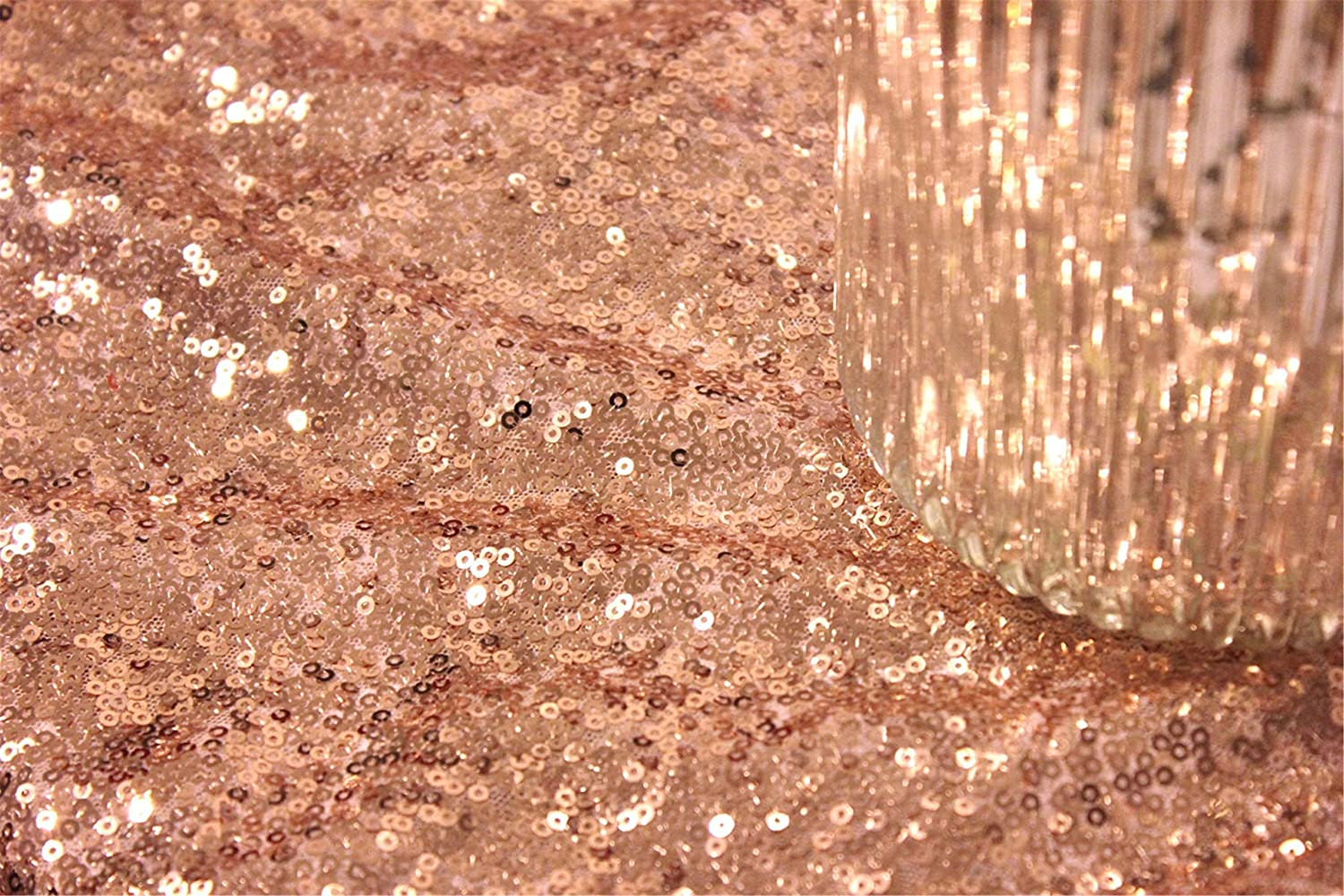 Amazon.com: QueenDream 50x80 Rectangle Sequin Tablecloth-Rose Gold: Home & Kitchen