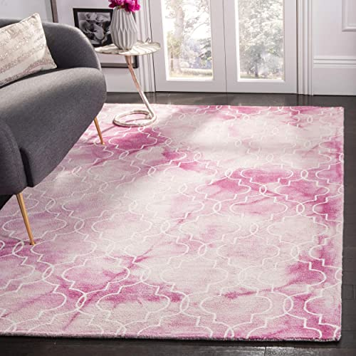 Safavieh Dip Dye Collection DDY676N Rose and Ivory Area Rug, 9 x 12
