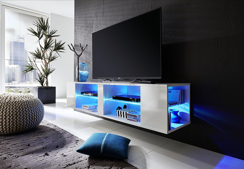 Tv schrank weiß hochglanz hängend  TV-Unterteil / TV-Board Henry weiß glänzend, hängend oder stehend ...