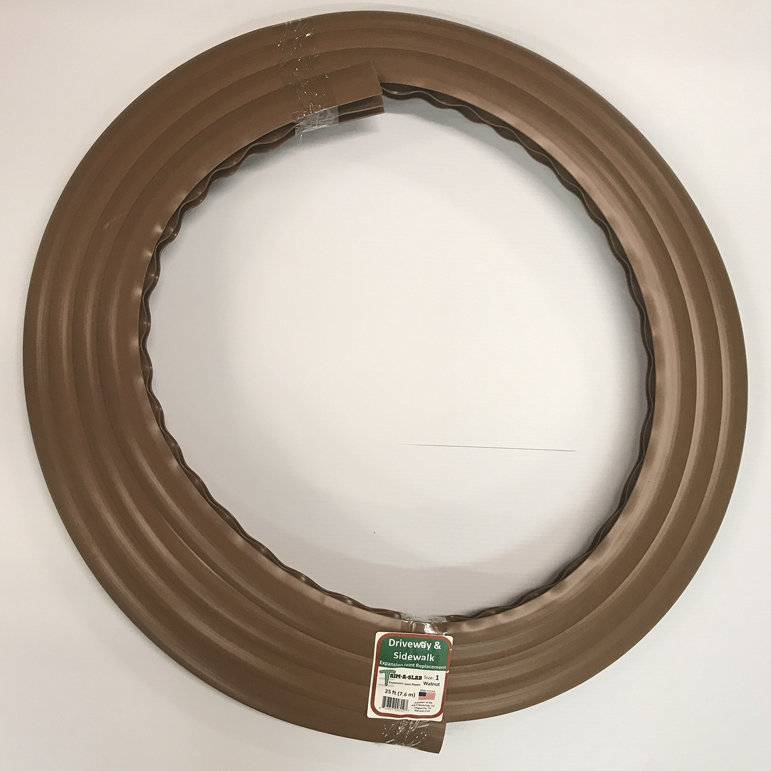 Trim-A-Slab (Walnut) Expansion Joint Repair/Replace Material - 1 3/8'' x 25 linear feet (7.6m)
