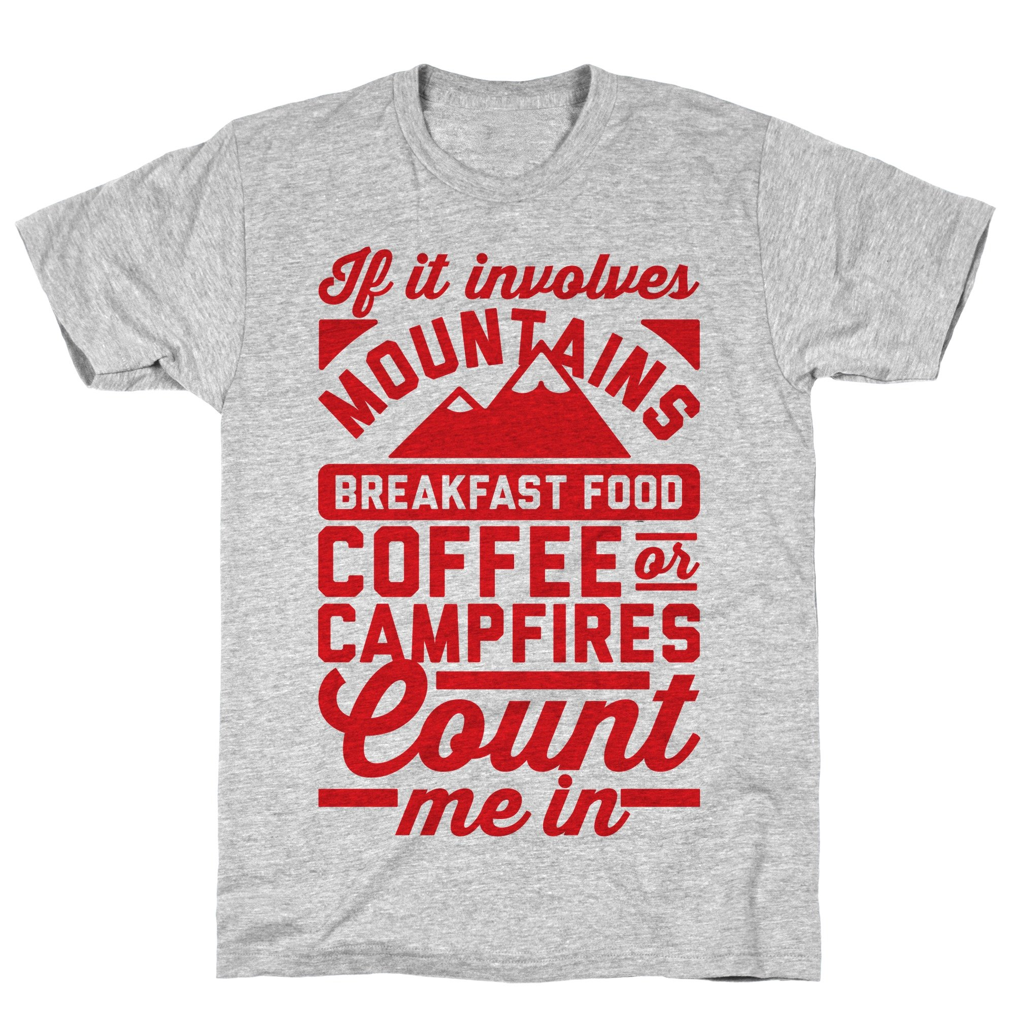 Count Me In Athletic Gray S Ts Shirts