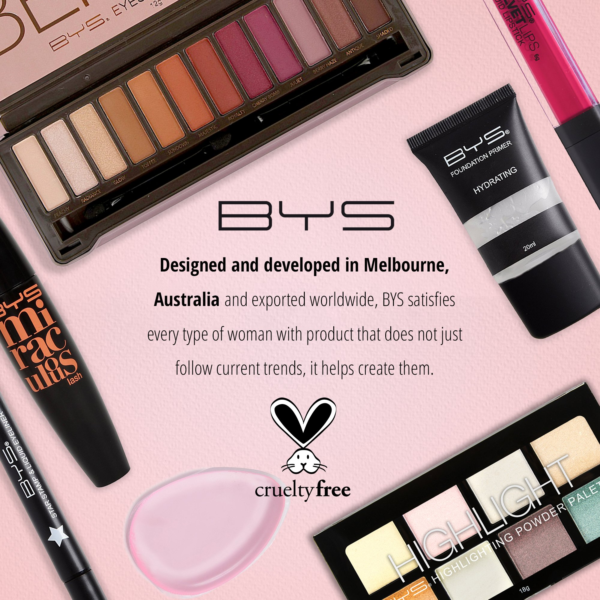 BYS Berries Eyeshadow Palette Tin with Mirror Applicator 12 Matte & Metallic Shades by BYS (Image #6)