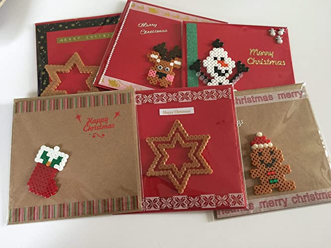 Handmade Christmas Greeting Cards Pack Of 6 Individual Cards