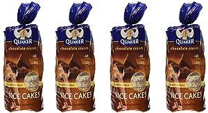 Quaker, Rice Cakes, Chocolate Crunch, 6.56oz Bag (Pack of 4)