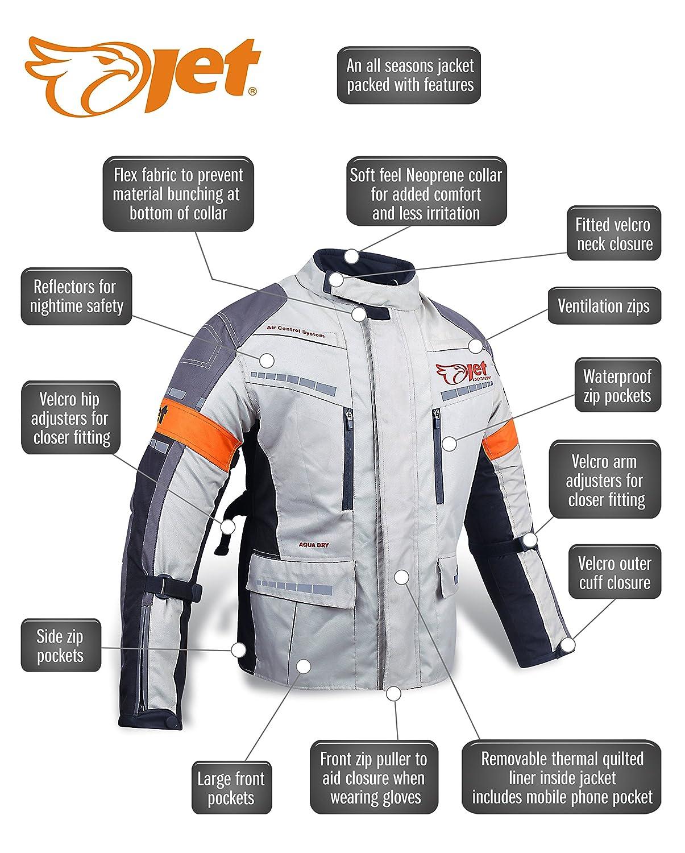 Chaqueta de moto motocicleta Chaquetas con impermeable con armadura   Amazon.es  Coche y moto 0c29103996f96