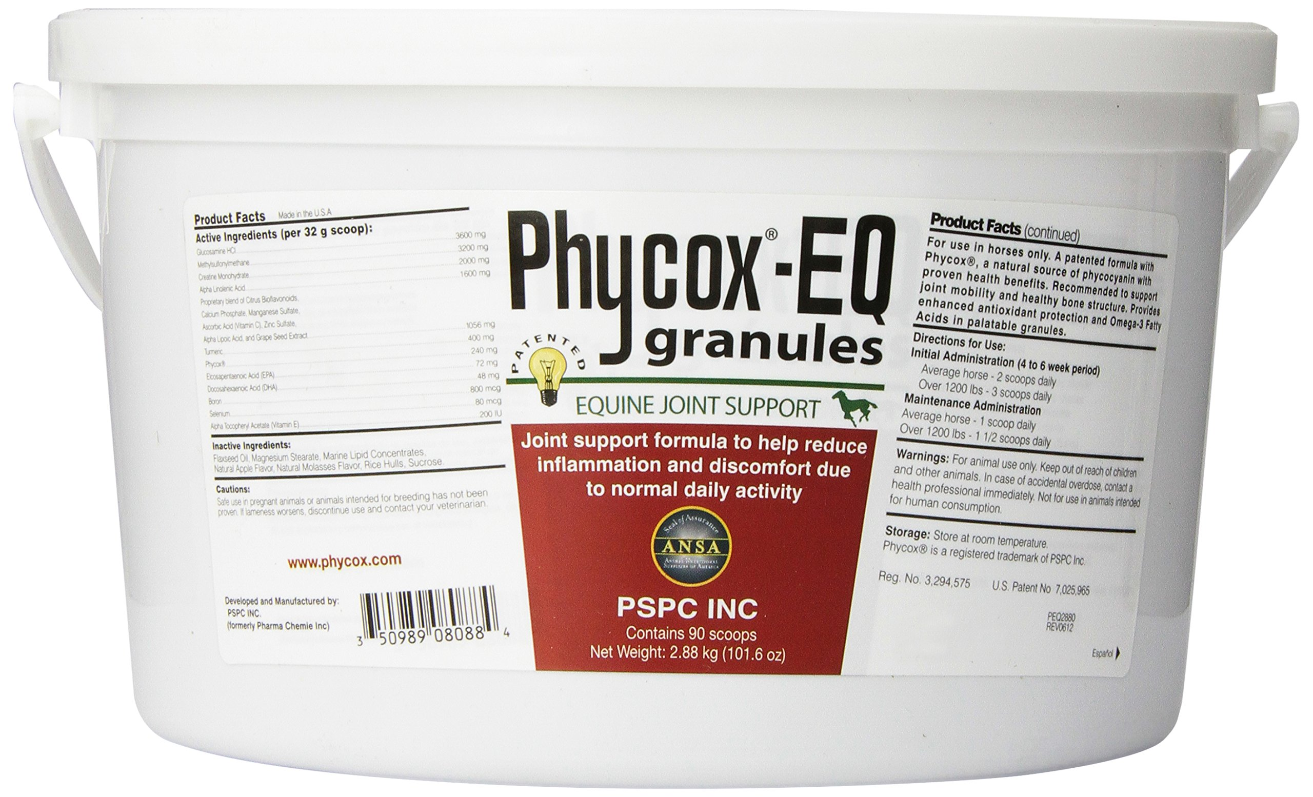 PSPC Phycox Joint Support Granules for Equine, 2880gm by PSPC