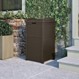 Suncast 33 Gallon Outdoor Trash Can for Patio