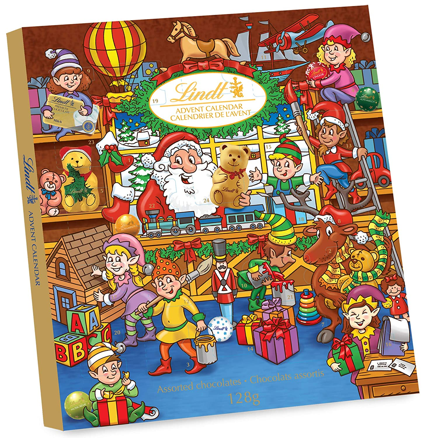 Lindt Christmas Advent Calendar Assorted Chocolates Gift Box, 128g Germany B61