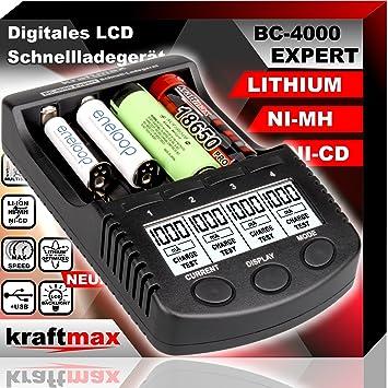 BC4000 Expert 18650 – Cargador de pilas universal: Amazon.es ...