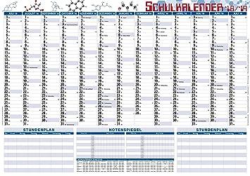 Agenda escolar 2017–18 + Tabla para calificaciones DIN A2 ...