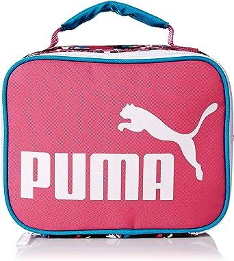 Útil Viaje Opinión  Amazon.com: PUMA Girls' Big Evercat MVP Lunch Box, Pink/Blue, Youth Size:  Clothing