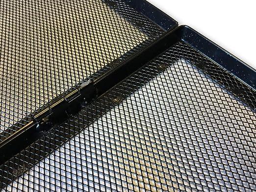 Protection pare-feu et pare-flamme Kibros 4SC4010 po/êle /à bois ou granules 3 volets acier thermolaqu/é sur charni/ères 95 x 62 cm ouvert Pour chemin/ée