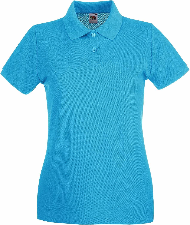Lady-Fit Premium Poloshirt XXL / 18, Azure Blue 63-030-0