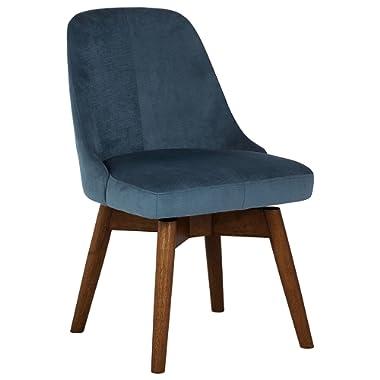 Rivet Edgemont Contemporary Office Desk Chair, 24 H, Swivel, Zebra Print