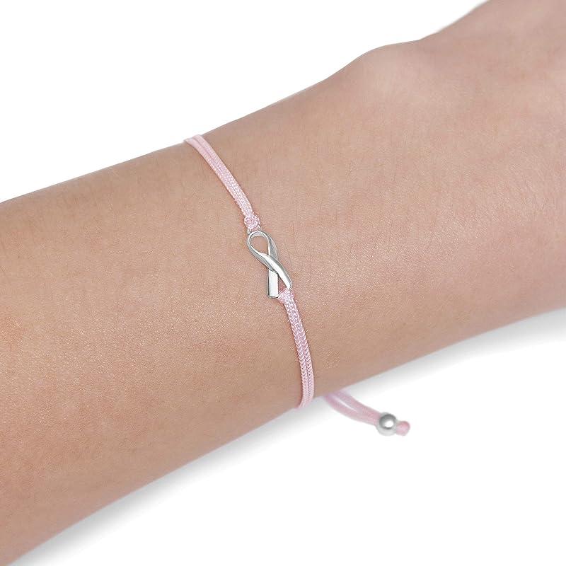 Pink Ribbon Breast Cancer Bracelet Personalized Cancer Bracelets Cancer Jewelry Breast Cancer Gifts Breast Cancer Survivor